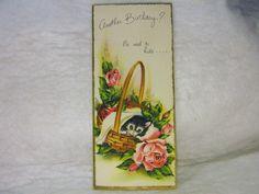 Vintage Birthday Card Adorable Kittens Embossed | eBay