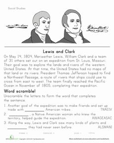 Worksheets Social Studies Worksheets For 5th Grade free lewis and clark printable worksheets coloring pages historical heroes clark
