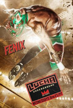 Lucha Underground introduces U. audiences to the high-flying, explosive moves of lucha libre. An ancient combat tradition, watch as good and evil wage war in a gritty battleground called The Temple Wrestling Posters, Boxing Posters, Men's Wrestling, Lucha Underground, Character Poses, Character Design, Catch, Keys Art, Happy Tree Friends