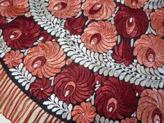 Hungarian Embroidery, Folk Embroidery, Embroidery Patterns, Folk Art, Hungary, Color Combos, Embellishments, Textiles, Stitch