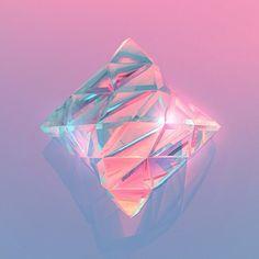 color | pink + purple gem