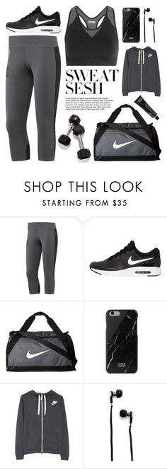 """Sweat Sesh: Gym Style"" by pure-vnom ❤ liked on Polyvore featuring Reebok, NIKE, Ivy Park, Master & Dynamic, workout, contestentry, gymstyle and sweatsesh"