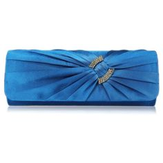 Elaine Satin and Crystal Clutch Handbag - Blue Also available in Ivory, Black and Purple http://www.happyweddingday.co.uk/collections/bags/products/elaine-satin-and-crystal-clutch-handbag