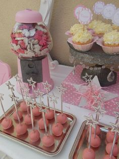 Fairy wands in cake pops for Fairy party