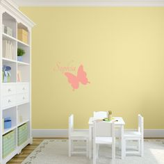 Butterfly with Name Personalized Wall Decal