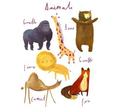 animal-poster.jpg 670×633 pixels-Clair Rossiter