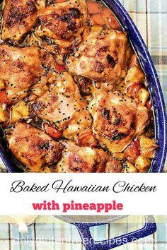 Hawaiian Dishes, Hawaiian Chicken, Best Gluten Free Recipes, Gluten Free Rice, Pineapple Dessert Recipes, Baked Chicken Recipes, Foods With Gluten, Savoury Dishes, Pineapple Sauce