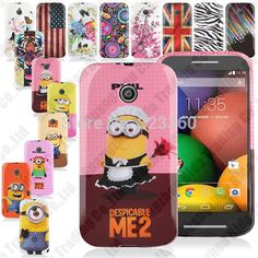 Printed Silicone TPU Gel Case + Screen Protector + Stylus For Motorola Moto E (XT1021,XT1022,XT1025)
