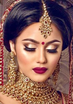 11d0a11456ddb Asian Bridal Indian Wedding Makeup, Desi Bridal Makeup, Indian Makeup Face,  Indian Makeup
