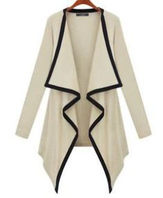 Irregular Combed Cotton Knitted Cardigan