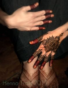 stages of henna for myself.