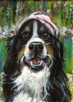Custom Painted Pet Portrait Dog portrait gift