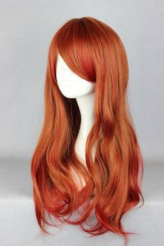 Fire Red Wig by FairyTailWings on Etsy, $40.00