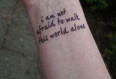 tattoo, alone, and quote afbeelding
