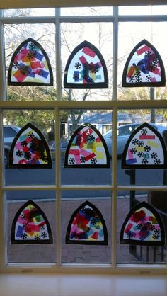 Snowflake stained glass- preschool art