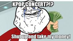 The 8 stages of buying tickets to a K-pop concert.  Hopefully I can go through all the stages someday ^^