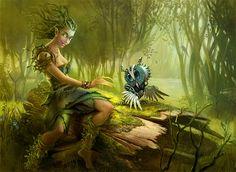 Dríada - Seres Mitológicos y Fantásticos