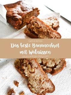 Das beste Bananenbrot mit Walnüssen – Rezept ist einfach zu backen, gesund un… The best banana bread with walnuts – recipe is easy to bake, healthy and really delicious. Baking bread in a different way. Banana Walnut Bread, Moist Banana Bread, Chocolate Chip Banana Bread, Banana Bread Recipes, Banana Nut, Walnut Recipes, Healthy Baking, Bread Baking, Chocolate Recipes