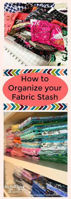 Watch this DIY video tutorial on how to organize your fabric stash using Comic Book Boards! I love how I can actually see what fabrics I have and find what I need easily!