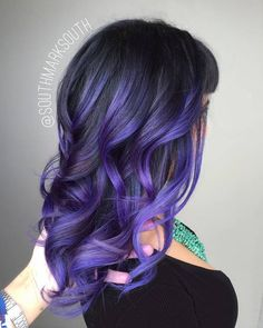 Purple Balayage For Black Hair                                                                                                                                                      More