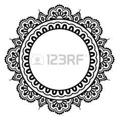 Indian Henna Blument�towierung runden Muster - Mehndi photo