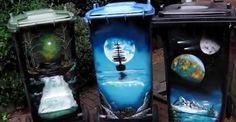 Amazing wheelie bin art by Paint With Brett