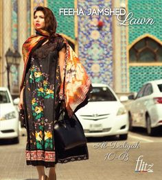 Feeha Jamshed Lawn Collection 2016 Mahira Khan, Lawn Styles 2016,