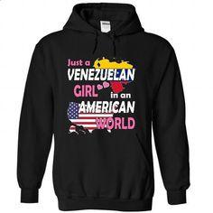 Just a Venezuelan Girl in an American World - #mens dress shirts #design shirts. ORDER HERE => https://www.sunfrog.com/States/Just-a-Venezuelan-Girl-in-an-American-World-bmxsaqraio-Black-Hoodie.html?id=60505