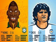 Cuando el arte ataque: Caricaturas de futbolistas argentinos