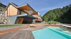 "Pool, Decking, Villa ""On the deck into life"", Slovenia by Superform"