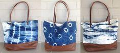 Liz Ambrose designs indigo shibori handbags from the Big Island of Hawaii in small town of Hilo.