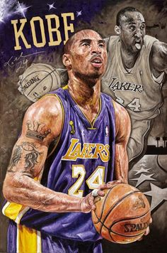 Kobe Bryant Sports Art Canvas #nba #memorabilia #kobe