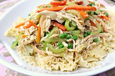 Chicken Noodle Hold the Soup! Pasta Recipes, Great Recipes, Chicken Recipes, Favorite Recipes, Kids Meals, Easy Meals, Weeknight Meals, Noodles, Main Dishes