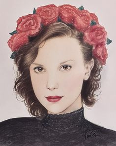 "[EDIT] Millie liked and commented ""Love this ❤️"" on… - Millie Bobby Brown, Lp Laura Pergolizzi, Stranger Things Netflix, Aurora Sleeping Beauty, Fanart, Artsy, Drawings, Drawing Sketches, Celebrities"