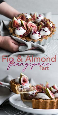 dessert recipes 372602569174578733 - A delicious Vegan Fig Tart with a sweet pastry crust filled with Fig Jam, Vegan Almond Frangipane and topped with Vegan Whipped Cream. Source by crazyvegankitch Easy No Bake Desserts, Vegan Dessert Recipes, Tart Recipes, Vegan Sweets, Desert Recipes, Baby Food Recipes, Jelly Recipes, Healthy Recipes, Recipes Without Fire