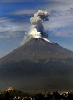 Popocatepetl Volcano - The Most Active Volcano In Mexico - Near Puebla, Mexico