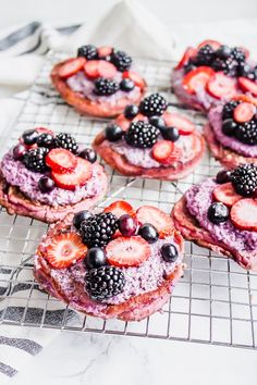 These gluten-free, vegan pancakes are made with only and are naturally sweetened! Top each pancake with chia pudding and fresh berries for a healthy + delicious breakfast. Vegan Pancakes, Chia Pudding, Vegan Butter, Berries, Pancake Recipes, Fresh, Eat, Cooking, Breakfast