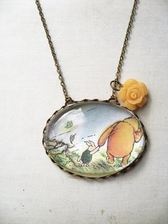 Winnie the Pooh and Piglet, love this.