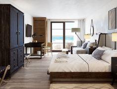 Chambre Supérieure Plus avec lit King & vue sur le fleuve Saint ...