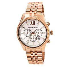 Michael Kors MK8313 Men's Lexington Chronograph Rose-Tone Stainless Steel Silver-Tone Dial *** Check out this great product.