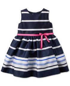 Carter's Baby Girls' Navy & White Stripe Dress
