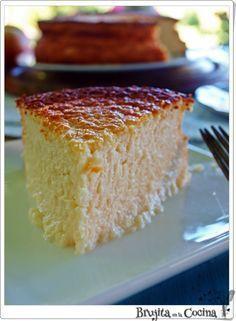 Tarta de queso con MANZANA y Crema de Alba