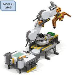 Lego-Mindstorms-Custom-MECHANICAL-ARM-Only-instruction-program-IDEA-1-Lab