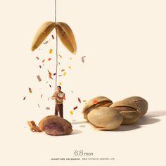 2015.6.8(月)/「おめでとうございます! あなたが生まれてからこれまでに食べたピスタチオの数が1万粒を突破しました。」