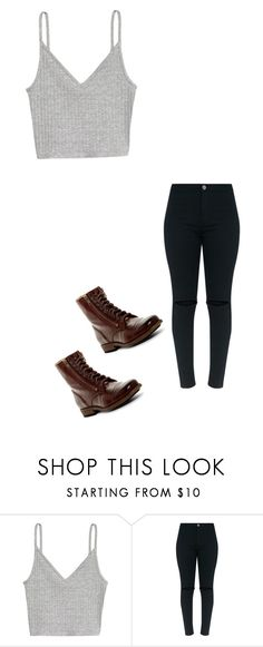 """""""Untitled #461"""" by austynh on Polyvore featuring H&M and Frye"""