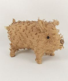 This Chenille Pig Figurine is perfect! #zulilyfinds   SQUEALING because this is so darned cute!