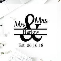 fd05b192266 Mr and Mrs Monogram Decal, Mr and Mrs Vinyl Decal, Custom Wedding Decal,  Vinyl Decal, Personalized Wedding Decal, Rustic Wedding Decals