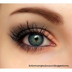 Mineral Makeup - #peachshadow #eyemakeup #eyes #eyelashes #alieneczka - Bellashoot.com (iPhone, iPad & Web)