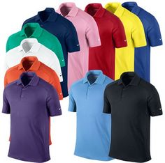 Look good on the golf course this season with the stunning new range of  Nike Golf clothing featuring DriFit fabric that wicks perspiration to keep you dry and comfortable. Dri Fit fabric. Keeps you dry, cool and comfortable. Solid knit collar. Provides UVA and UVB protection  from the sun 40. 3 button placket. Breathable. Nike Swoosh logo on the sleeve. 100% Polyester. Machine washable 30degree.