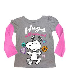 Peanuts by Charles Schulz Peanuts Snoopy Hugs All Around Layered Tee - Toddler | zulily